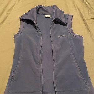 Women's Lavender Columbia fleece vest